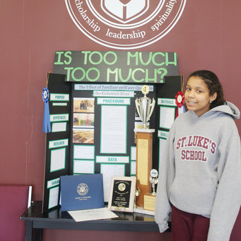 St. Luke School students stand out in science, engineering and history