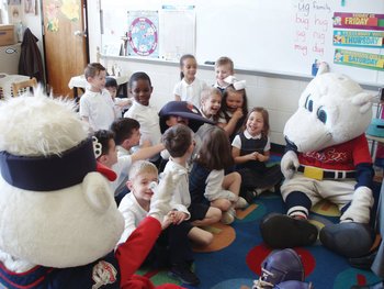 A special visit from Paws and Sox