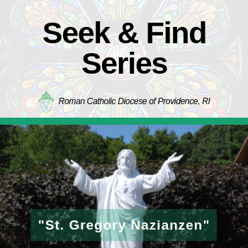 "Seek & Find Series: Fr. Adam Young shares about ""St. Gregory Nazianzen"""