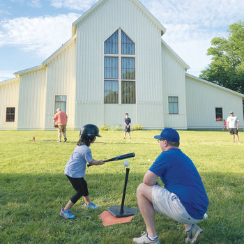 'Lil Saints' take big swings at St. Bernard Church tee-ball program