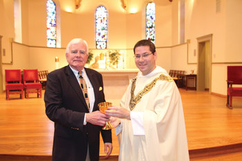 Chalice used by St. John Paul II presented to Providence College Dominicans