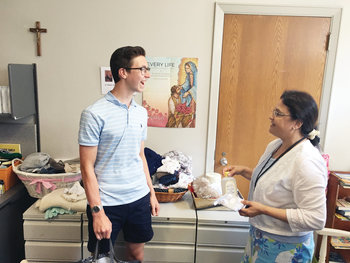 Bishop Hendricken student helps mothers in need