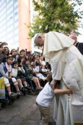 Love is never indifferent to other's suffering, pope says