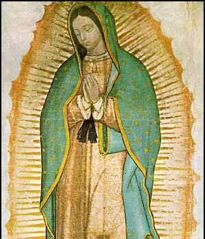 Image of Our Lady of Guadalupe visiting our Diocese throughout January