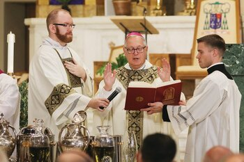 At Chrism Mass, Bishop Tobin encourages priests to lead boldly