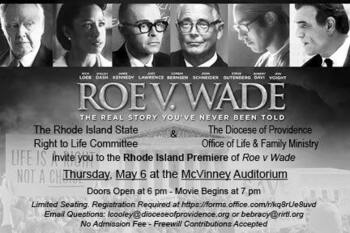 Rhode Island Movie Premiere of ROE V. WADE