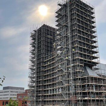 A Towering Restoration Project begins in Providence