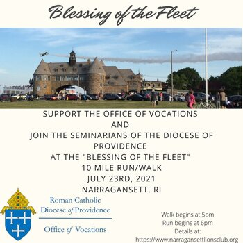 """Join the Providence seminarians for a 10 mile run/walk at the """"Blessing of the Fleet"""""""