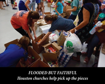 Flooded but faithful: Houston churches help pick up the pieces