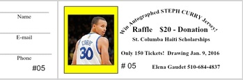Steph Curry Jersey Raffle