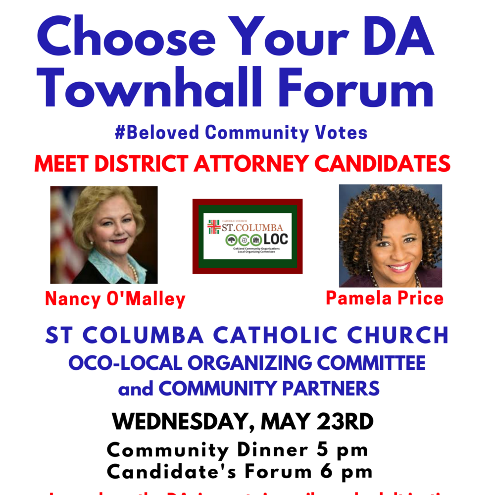St Columba DA Townhall Know Your DA  Beloved Community Votes