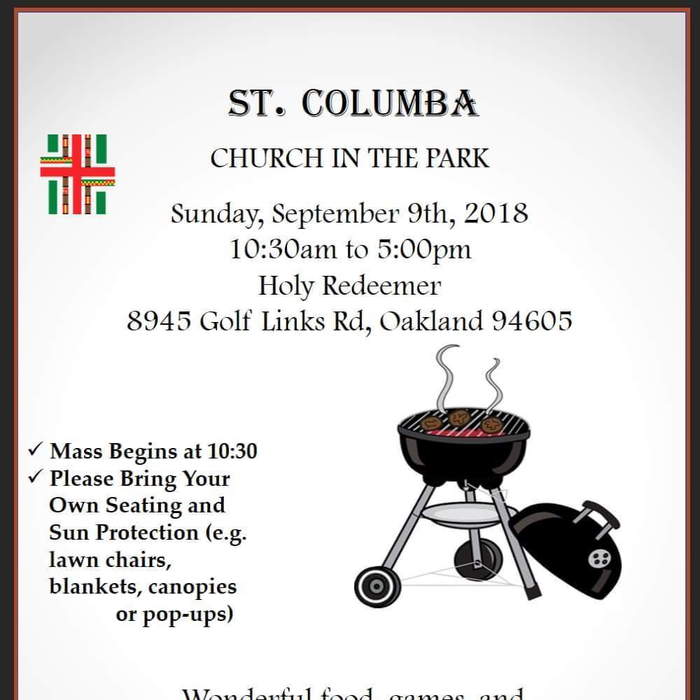 Church in the Park Image of Flyer