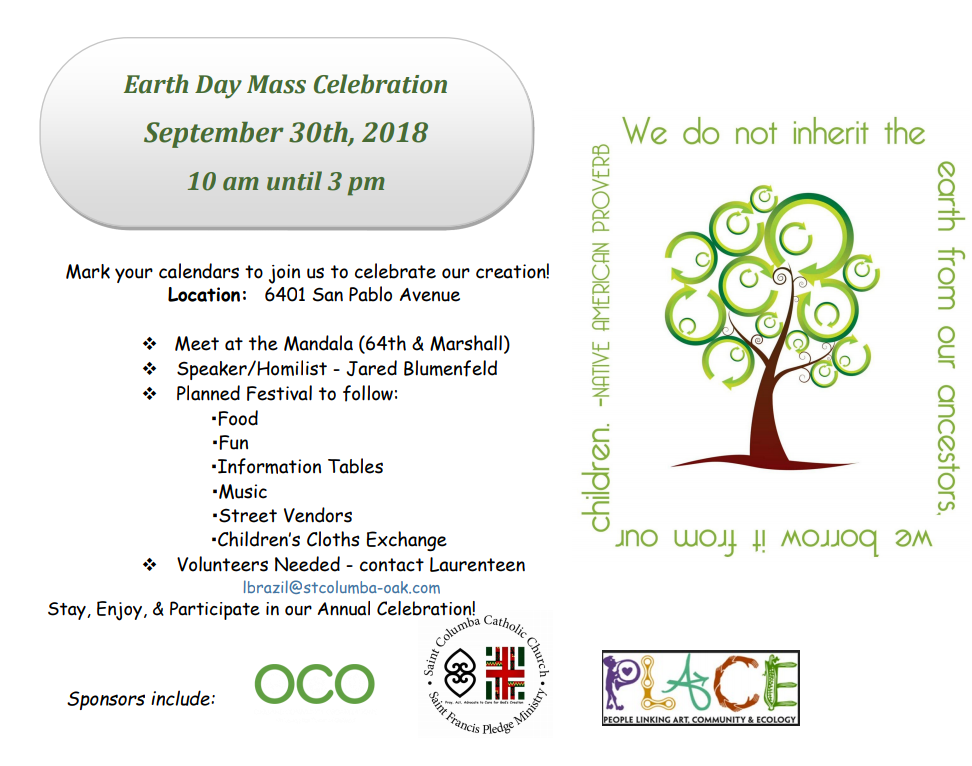 Annual Earth Day Mass Celebration and Street Festival :: St