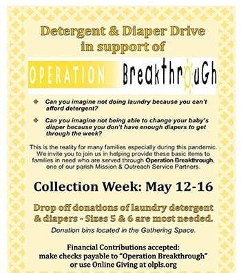 Operation Breakthrough Detergent & Diaper Drive