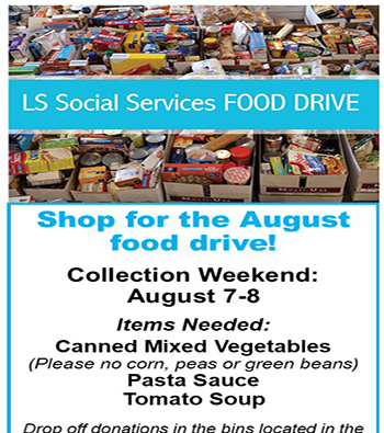 Lee's Summit Social Services August Food Drive