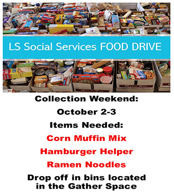October Food Drive for LS Social Services