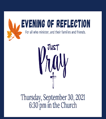 Just Pray Evening Of Reflection