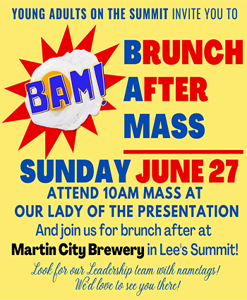 Young Adults on the Summit Brunch After Mass