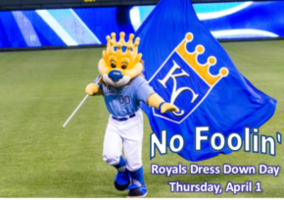 KC Royals Dress Down Day