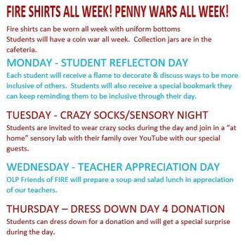 FIRE Week at OLP