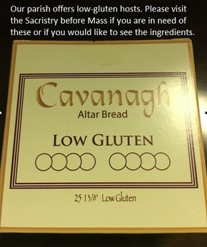 low gluten hosts