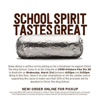Chipotle Flyer - Wed. Mar. 31