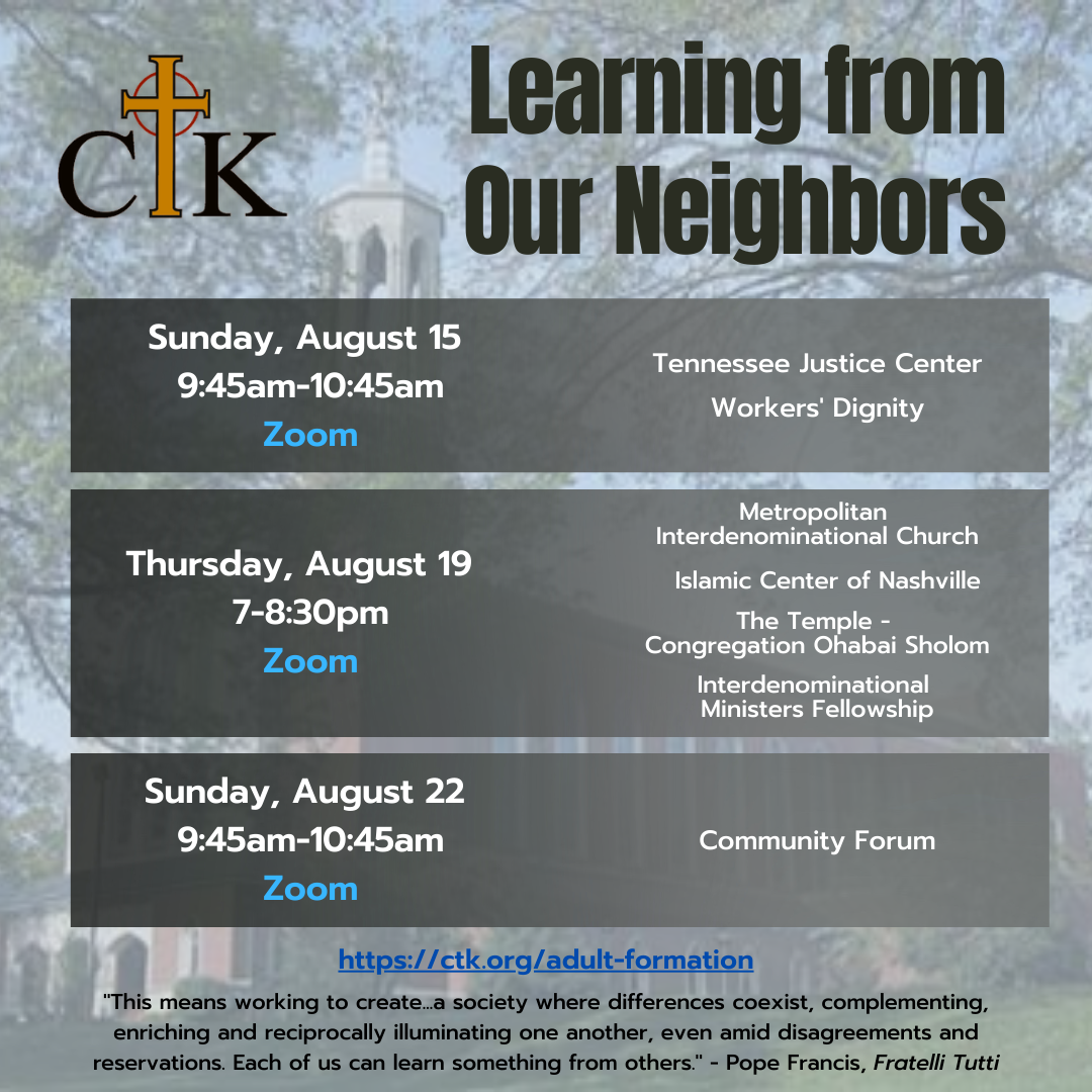 Learning from our neighbors adult ed series