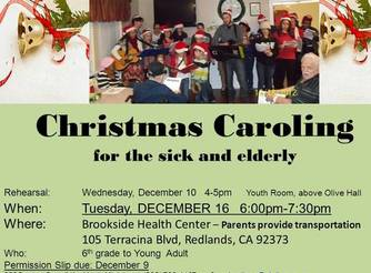 Christmas Caroling for Sick and Elderly