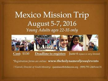 Mexico Mission Trip, ages 22-35 only