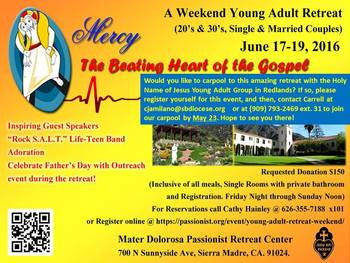 Young Adult Retreat, 20's and 30's