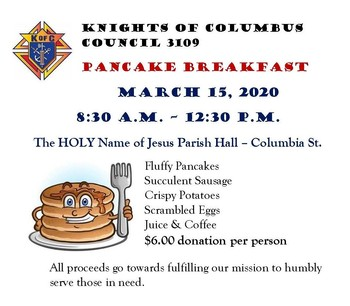 KofC Pancake Breakfast (CANCELED)
