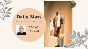 Daily Mass eith Fr. Gino Galley LIVESTREAM