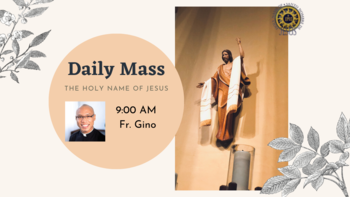 Daily Mass with Fr. Gino Galley LIVESTREAM