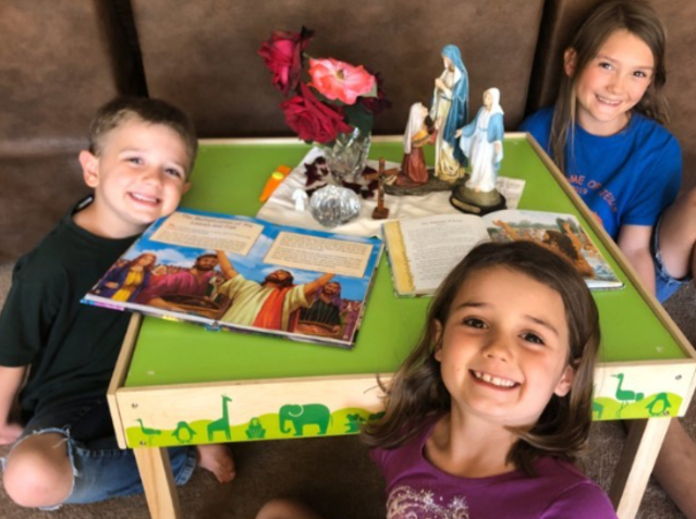 Domestic Church - Family Prayer Table Challenge during Covid