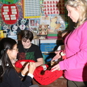 Young knitters at OLA reach out to community