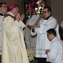 Bishop ordains transitional deacon