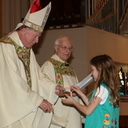 Bishops gives religious awards to Scouts