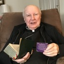 Bishop Reilly enjoys the people
