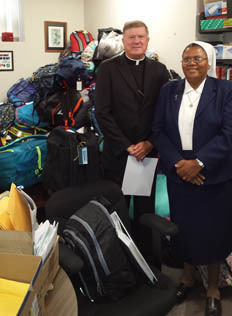 Hundreds of School Backpacks on their way to Haiti