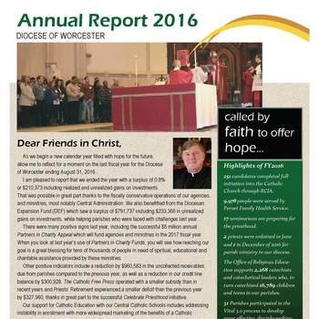 Diocese Ends Fiscal Year with a surplus of less than 1%