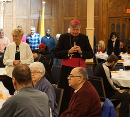 Bishop McManus hosts Thanksgiving Dinner