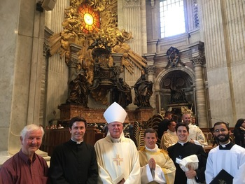 Alan Martineau ordained to diaconate in St. Peter's Basilica