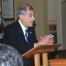 Time for laity to help bishops with crisis, President Cesareo tells gathering