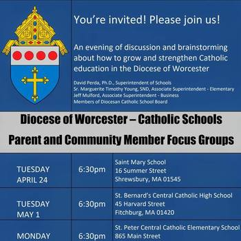 Diocese of Worcester - Catholic Schools Parent and Community Member Focus Groups