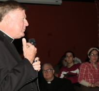 Bishop talks to young people at Theology on Tap