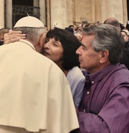 Shrewsbury couple up front with Pope Francis
