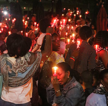 Catholic Haitian convention lights up the city night