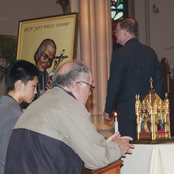 Relic of St. Jean Vianney draws many to St. Paul Cathedral
