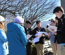 High school students join 40 Days for Life vigil
