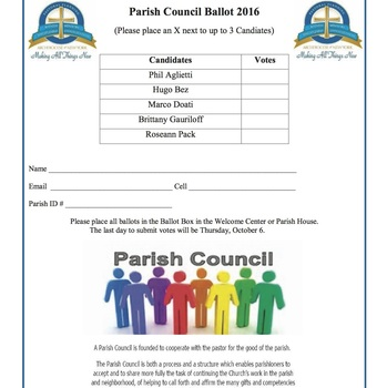 Parish Council Ballot
